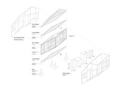 Invisible Barn,Exploded Isometric