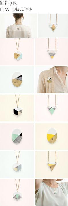 Depeapa's new collection - I love geometrical necklaces!