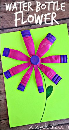 Water Bottle Flower Craft for Kids #Spring or Summer art project! #Recycle