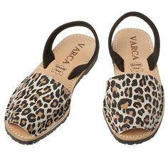 4f7b394fe3fb Gorgeous Pair of Leopard Print Nubuck Sandals by #Varca #Shoes #Fashion
