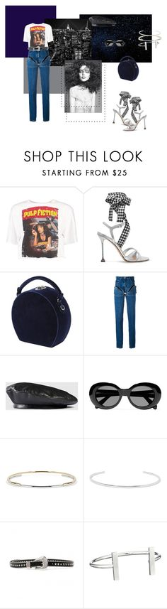"""""""all night long"""" by zeynpp ❤ liked on Polyvore featuring Boohoo, Miu Miu, Bertoni, Y/Project, Gucci, Acne Studios, Jennifer Fisher and French Connection"""