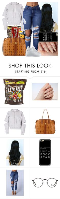 """"""""""" by msixo ❤ liked on Polyvore featuring Maurie & Eve, MCM, Casetify, Ray-Ban and NIKE"""