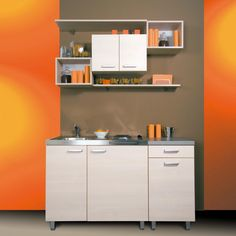 nice effecient small kitchen design and cabinet