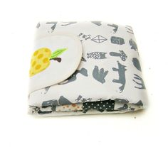 Screen printed changing pad with golden apple by normadot on Etsy