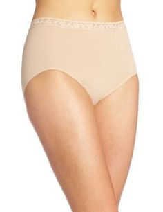 Bali Women's Comfort Revolution Seamless Lace Brief, Nude, Medium Bali. $5.51