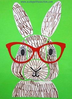 Rabbit in glasses craft