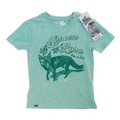 T-Shirt Fox Green Organic Brand Lion of Leisure www.stadtlandkind.ch
