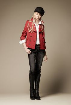 BURBERRY BLUE LABEL cool red!