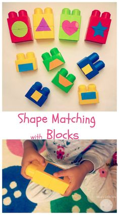 shape matching with blocks fun preschool learning activity or great for toddlers. - shape matching with blocks fun preschool learning activity or great for toddlers. Nursery Activities, Preschool Learning Activities, Toddler Preschool, Preschool Activities, Kids Learning, Preschool Shapes, Shape Activities For Preschoolers, Shapes For Toddlers, Cognitive Activities