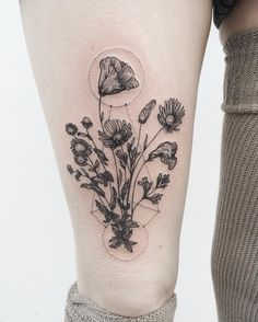 "15.4k Likes, 276 Comments - Pony Reinhardt Tattoo (@freeorgy) on Instagram: ""Part one of wilting wildflower bouquets, similar but different, for twins. Thanks Heather and…"""
