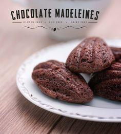 Chocolate Madeleines.  Gluten free, egg free, dairy free. Thermomix TM5 Edition.