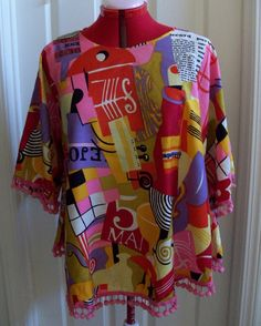 Vintage 1950-60's Top Blouse with Pompoms The Cha-Cha Shop by timegonebyvintage. Explore more products on http://timegonebyvintage.etsy.com