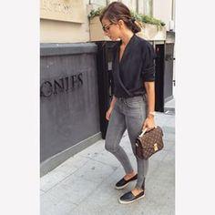 Minimal + Classic | Chanel espadrilles | Louis Vuitton Pochette Metis. @modatutkusu