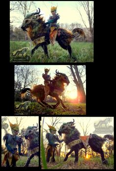 -SOLD- Hand Made Poseable Mount and Rider! by Wood-Splitter-Lee.deviantart.com on @deviantART  ~MS: R&R~ Vuorien (reference)