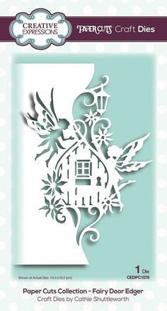 icu ~ Pin on Products ~ Creative Expressions Paper Cuts Fairy Door Edger Craft Die Paper Crafts Origami, Paper Crafts For Kids, Diy Paper, Paper Crafting, 3d Paper Art, Paper Cutting Patterns, Paper Cutting Templates, Paper Cutting Art, Fairy Templates