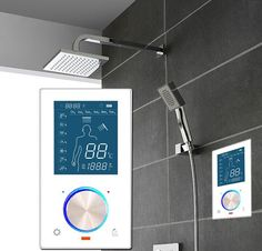 Shower Faucets Black Rain Shower Faucet Set Hot And Cold Thermostat Mixer Tap Waterfall Bathroom Shower Head Digital Bath Panel System Bracing Up The Whole System And Strengthening It Shower Equipment