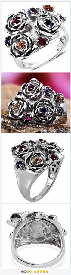 Topaz Ruby Iolite Garnet Amethyst Ring 1 carat Size 6 Valentines Day  | eBay  40% OFF #EBAY http://stores.ebay.com/JEWELRY-AND-GIFTS-BY-ALICE-AND-ANN
