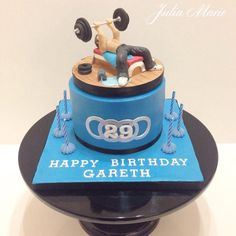 Body Builder Gym Cake - Cake by Julia Marie Cakes