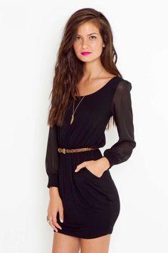 Lily Lattice Dress - Black