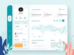 Option by Zoe Lab - Medical App by Zoe Lab for Cadabra Studio in Mobile Design Hi there! I am Zoe and it is my first s - Web Design, App Ui Design, Graphic Design, Dashboard Ui, Dashboard Design, Dashboard Examples, Planner Dashboard, Interface Design, User Interface