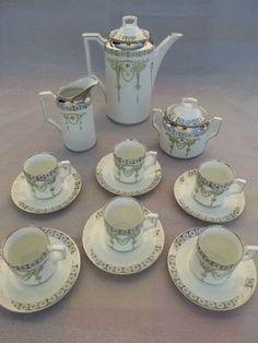 P65-Jugendstil-Kaffeeservice-Carl-Krister-Porzellan-KPM-um-1910-Art-Nouveau-rar Art Nouveau, Tea Sets, Sugar Bowl, Bone China, Bowl Set, Ebay, Ceramics, Vintage, Design