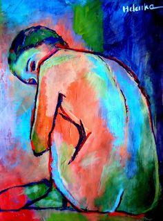"Saatchi Online Artist: Helena Wierzbicki; Acrylic, 2013, Painting """"Keeper of secrets"""""