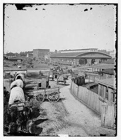 [Atlanta, Ga. Railroad depot; a nearer view].