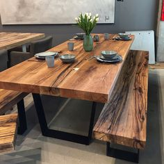 Brilliant Wood Dining Table Design Ideas That Trend Today 37 Wooden Dining Table Modern, Dinning Table Design, Dining Table Height, Unique Dining Tables, Dining Room Table Centerpieces, Wood Table Design, Solid Wood Table, Glass Dining Table, Wood Tables