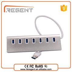 """Aluminum USB Hub 3.0 7 Port with 1 Quick Charging for iMac, MacBook, MacBook Pro, MacBook Air"""