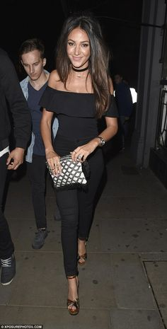 Black to basics: Michelle Keegan proved that she can still turn heads in a simple black en...