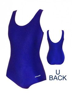 Waterpro Solid Polyester Scoop Back Tank | Chlorine Resistant Swimwear - Swim & Sweat.  This Scoop Back Tank is made of a polyester blend that ensures chlorine resistance and retains color, while offering a good fit! This suit features a scoop back, supportive soft cup bra, thick straps, and conservative leg height. Fully lined. A great swimsuit for water fitness! #swimandsweat #waterpro #swimming #waterfitness #poolworkout