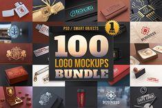 100 Logo Mockups Bundle Vol.1 by pixaroma on @creativemarket