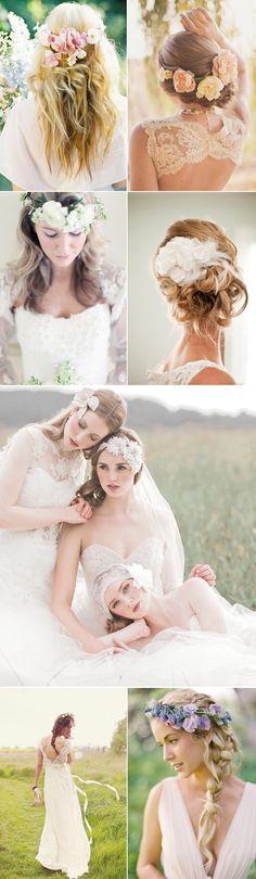 Praise Wedding » Wedding Inspiration and Planning » 16 Natural and Elegant Bridal Hairstyles