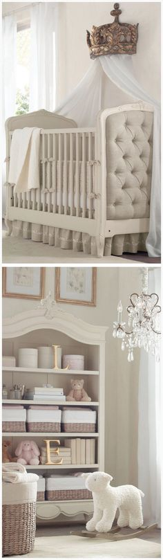 Gorgeous Neutral Color Nursery With White and Grey Decor ❤︎