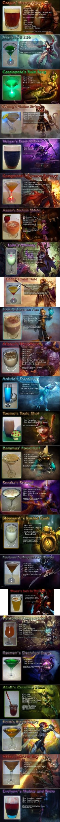Gaming Inspired Drinks