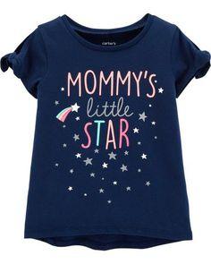 Mommy's Little Star Hi-Lo Tee Toddler Girl Shorts, Baby Girl Shirts, Baby Girl Tops, Toddler Girl Style, Carters Baby Girl, Toddler Girl Outfits, Kids Outfits, Girls Tees, Shirts For Girls
