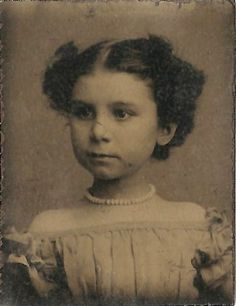 Tintype of little girl