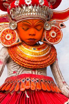 A small Theyyam representing Hindu god Rama's son 'Kusha'