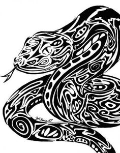 tribal snakes on pinterest snake tattoo snakes and chinese zodiac snake. Black Bedroom Furniture Sets. Home Design Ideas