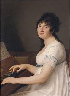 """Portrait of Anna Maria Pellegrini,"""" by Gaspare Landi"""