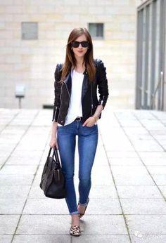 SLP Style Short Slim Motorcycle PU Leather Jacket