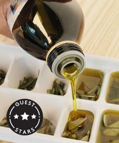 Herbed olive oil ice cubes. Pop them into your saucepan and start cooking!