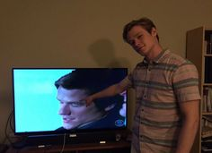 Lucas Till watching MacGyver (where he plays Angus MacGyver in the reboot)