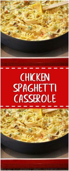 Chicken Spaghetti Casserole#chicken #spaghetti #casserole #whole30 #foodlover #homecooking #cooking #cookingtips