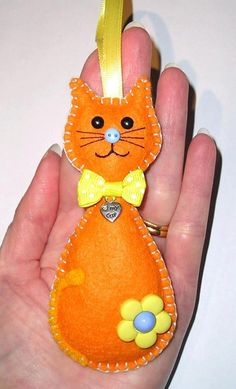 felt cat/ORNAMENT
