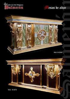 Mesas de altar Luxury Interior Design, Interior And Exterior, Altar Design, Cathedral Basilica, Baroque Design, Wooden Front Doors, Gothic Furniture, Religious Pictures, Chinese Furniture