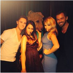 Artem & Sasha with Witney at the Pre-Party 10 Aug 2014 (pic posted by Sasha on Instagram)
