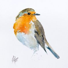 Buy Robin, Watercolor by Andrzej Rabiega on Artfinder. Discover thousands of other original paintings, prints, sculptures and photography from independent artists. Watercolor Trees, Watercolor Animals, Abstract Watercolor, Simple Watercolor, Watercolor Landscape, Tattoo Watercolor, Watercolor Background, Watercolor Artists, Watercolor Portraits