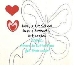 Joseys Art School Episode Butterfly Art Project Art Lessons for kids Art Lessons For Kids, Science Lessons, Art For Kids, Butterfly Art, Butterflies, Joy Art, Fun Arts And Crafts, Art Programs, Common Core Standards