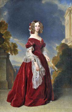 Louise Marie Thérèse Charlotte Isabelle d'Orléans, reine des Belges by Franz Xaver Winterhalter 1841